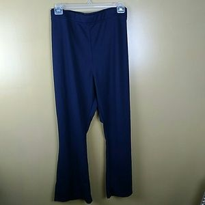 Woman Within navy blue Ponte Knit bootcut pants